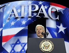 Joe Biden addresses the AIPAC conference in Washington on Monday March 4, 2013