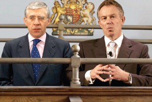 How former Foreign Secretary Jack Straw and Tony Blair might look if they are ever called to trial. Click enlarge