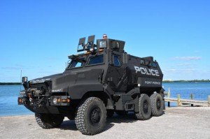 Fort Pierce Police Dept's new armoured vehicle. Click to enlarge