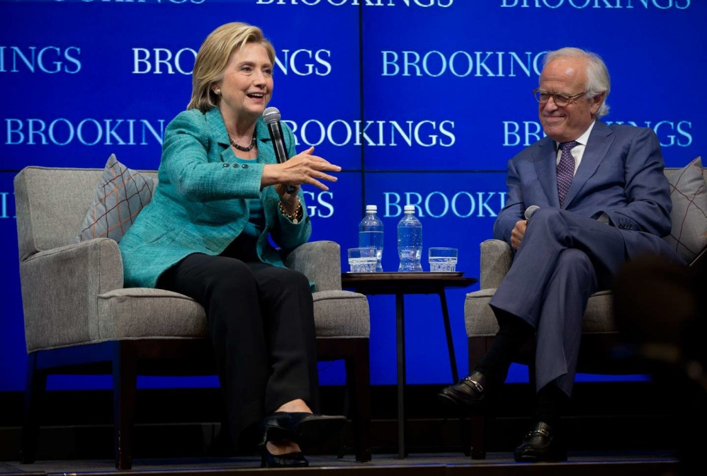 Martin Indyk with Hillary Clinton (Indyk is the executive Vice President of the Brookings Institute). click to enlarge