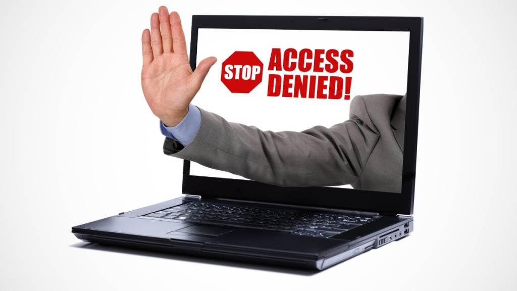 Internet access denied