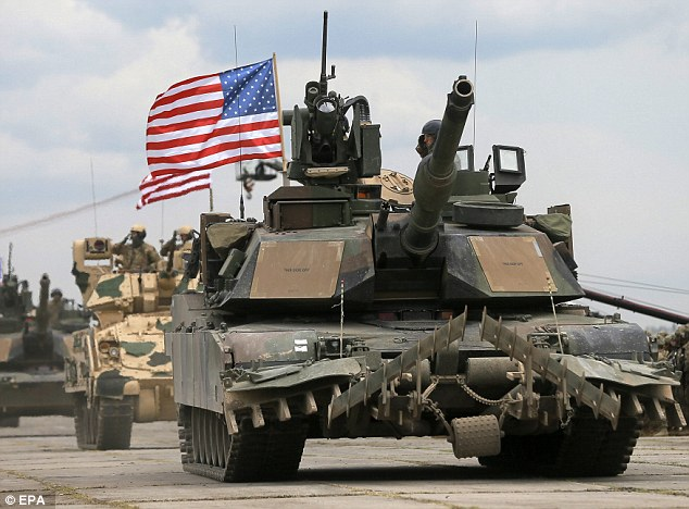 American armoured vehicles in Georgia. The news of the exercise, called Noble Partner 2016, angered Russia, who said it could destabalise the region. Click to enlarge