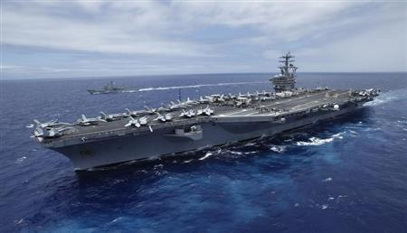 USS Nimitz aircraft carrier during RIMPAC 2013. Click to enlarge