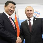 President Xi Jinping with Russian President Putin at G20 summit in St Petersburg. Click to enlarge