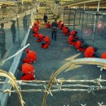 Inmates at Guantanamo detention facility. Click to enlarge