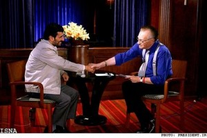 Larry King and President Ahmadinejad