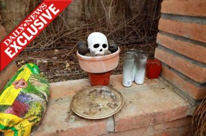 "The ""shrine"" supposedly found in Loughner's backyard"