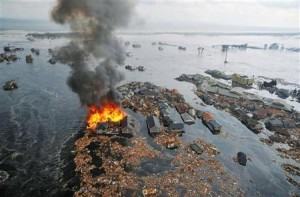 Aftermath of a tsunami in Japan. Click to enlarge