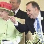 Alex Salmond and Queen Elizabeth II. Click to enlarge