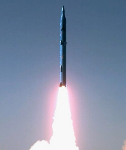 Iran's Sejil-2 missile, which has a range of 2,000 kilometres