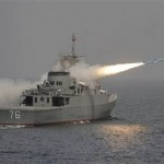 Iranian warship Jamaran fires a  missile, reported to be a Noor, a long-range anti-ship  missile manufactured by Iran and  based on the Chinese C-802, in an exercise in the  southern waters of Iran, Tuesday, March 9, 2010.