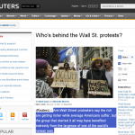 Who's behind the Wall Street protests?