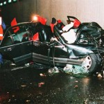 Princess Diana car wreck. Click to enlarge