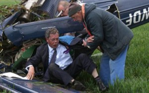 Nigel Farage survived a plane crash during while campaigning in 2010.