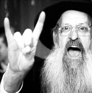 Rabbi-Rabbinovich. Note the hand sign.