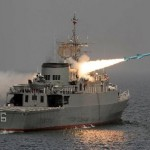 A Nour missile is fired from Iran's domestically designed and built Jamaran destroyer. Click to enlarge