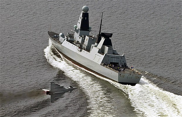 HMS Daring. click to enlarge
