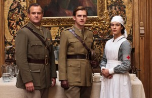 Lord Ronald Grantham, Matthew Crawley and Lady Sybil Crawley, in Downton Abbey. Click to enlarge