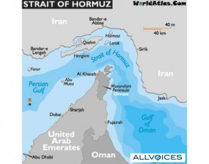 Straits of Hormuz. Click to enlarge