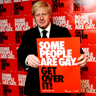 Boris Johnson dutifully promoting the politically correct