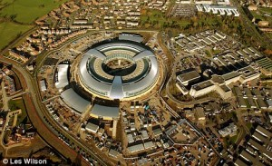 GCHQ: the British government's listening post in Cheltenham. Click to enlarge