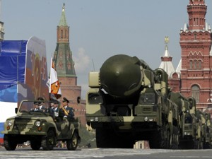 Russian missile in Red Square parade. Click to enlarge