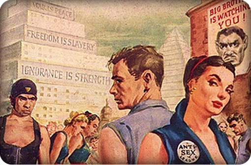 An original illustration from George Orwell's 1984. Click to enlarge