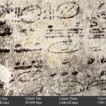 This undated image made available by National Geographic shows four long numbers on the north wall of a ruined house related to the Maya calendar and computations about the moon, sun and possibly Venus and Mars; the dates stretch some 7,000 years into the future. Click to enlarge
