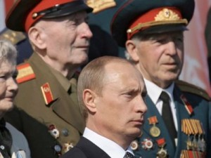 During the 9th June, 2012, celebration over Nazism Putin emphasised that Russia must be ready for new sacrifice. Click to enlarge