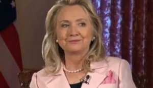 Hilary Clinton interviewed on June 21. Click to enlarge