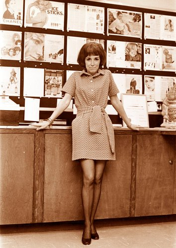 Cosmo editor Helen Gurley Brown in her office in 1965. Click to enlarge