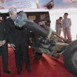 resident Ahmadinejad and Defence Minister Ahmad Vahidi are briefed on a mortar launcher. Click to enlarge