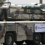 The Raad medium-range-air-defence-system on parade in Tehran. The Raad will likely used used in the upcoming military drills. Click to enlarge