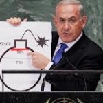 Netanyahu tries to convince U.N delegates of the nuclear threat posed by Iran in 2012