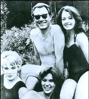 Ward and Christine Keeler, far right.
