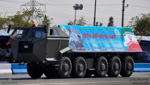 The ZOLJANAH tactical truck, which will likely carry the Bavar 373, Iran's s-300. Click to enlarge