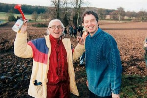 Jimmy Savile photographed with a younger Tony Blair. Click to enlarge