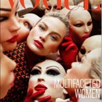 The editorial shoot of the September issue of Vogue Italia is called Multifaceted Women and is about models putting on weird creepy masks on their faces. In Mind Control symbolism, masks represent alter personas of MK slaves  switching masks means switching alters.