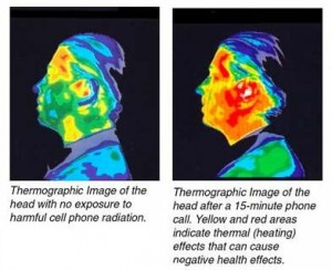 Cell phone radiation. Click to enlarge