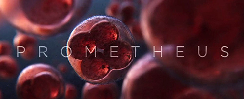 The movie's title screen shows a single cell multiplying itself, creating life on Earth.