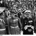 The picture shows 'Jewish' Senior Officers In Hitler's Army: Erhard Milch, Wilhelm Keitel, Walther von Brauchitsch, Erich Raeder, and Maximilian von Weichs during a Nazi rally in Nuremberg, Germany, 12 Sep 1938. Click to enlarge