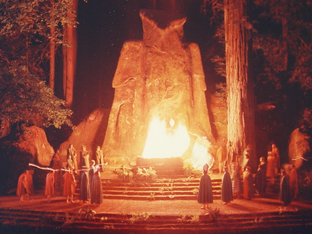 Bohemian Grove gathering. Click to enlarge