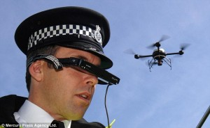 Another example of being under the watchfull eye of the authorites: Merseyside police surveillance drone. Click to enlarge
