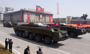 North Korean Musudan-class missiles displayed during a 2012 military parade. Click to enlarge