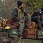 "Image: (Edlib News Network Enn, via Associated Press) Al Qaeda terrorists in Idlib, Syria. It is now admitted by the New York Times that the entire armed so-called ""opposition"" is comprised entirely of Al Qaeda, meaning the torrent of cash and weapons sent to the ""opposition"" by the West and its regional allies, were intentionally sent directly to listed terrorists guilty of a multitude of unprecedented atrocities. Click to enlarge image"