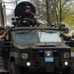US internal security forces conduct sweeps in the wake of the Boston Marathon bombing. Click to enlarge