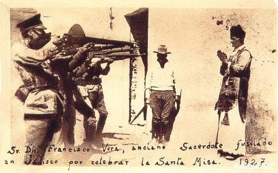 Execution of Fr. Francisco Vera, 1927. Click to enlarge