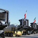 Iranian mobile missile launchers to fire the Sejjil-2 missile. Click to enlarge