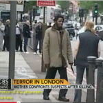Calmly confronting the Woolwich killer. Click to enlarge