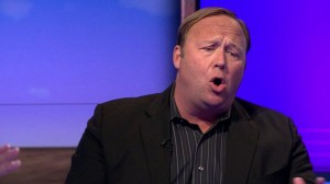 Alex Jones as he appeared on the BBC. Click to enlarge